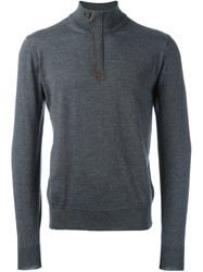 Canali High Neck Jumper Grey