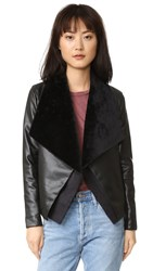 Bb Dakota James Jacket With Faux Fur Black