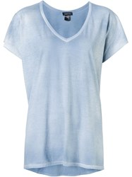 Avant Toi V Neck T Shirt Blue