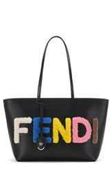 Fendi 'Small Roll' Genuine Shearling And Leather Tote