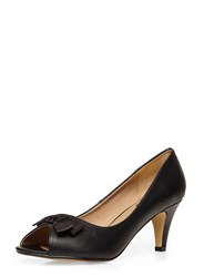 Evans Extra Wide Fit Black Peeptoe Heel