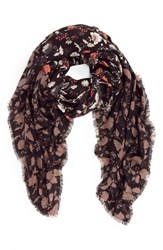 Hinge Women's Folklore Floral Print Scarf Black Combo
