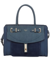 Guess Kingsley Small Satchel Blue