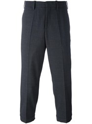 Neil Barrett Cropped Tailored Trousers Grey