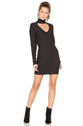 Twenty Cut Out Jacquard Dress Black