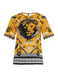 Versus Lion And Logo Print T Shirt
