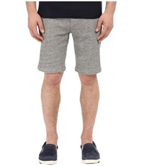 The Kooples Melange Fleece And Rib Shorts Grey