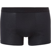 Dolce And Gabbana Pin Dot Cotton Boxer Briefs Blue