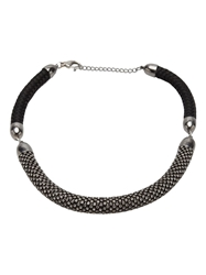 Nektar De Stagni Crystal Rope Necklace Black