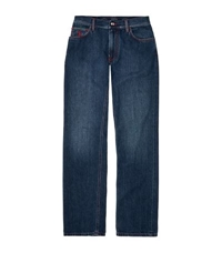 Stefano Ricci Logo Embroidered Jeans