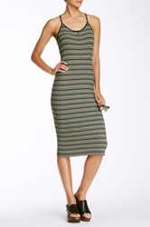 Painted Threads Mini Rib Knit Midi Dress Green