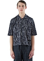Marius Petrus Short Sleeved Patterned Shirt Black