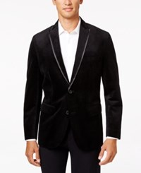 Inc International Concepts Men's Classic Fit Aiden Velvet Blazer Only At Macy's Black