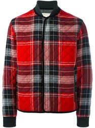 Maison Kitsune Checked Jacket Grey