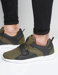 Pull And Bear Pullandbear Trainers In Khaki With Velcro Strap Khaki Green