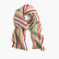 J.Crew Candy Stripe Scarf Multi Stripe