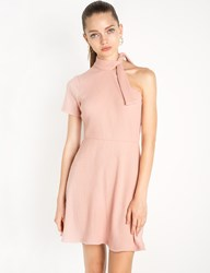 Pixie Market Sammy One Shoulder Knot Tie Dress