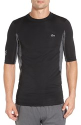 Lacoste Men's Fitted Compression Training T Shirt Black Pitch