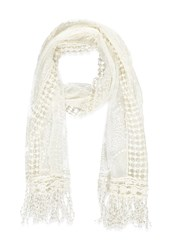 Forever 21 Embroidered Mesh Scarf