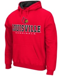 Colosseum Men's Louisville Cardinals 3 Stack Logo Hoodie Red
