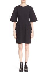 Public School Women's Flap Pocket Cotton Dress Black