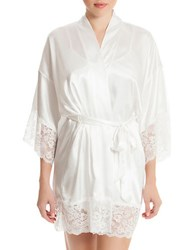 In Bloom The Bride Satin Robe Ivory