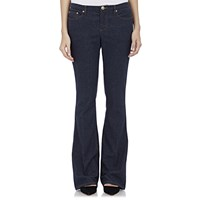 Atm Anthony Thomas Melillo Denim Effect Flared Trousers Navy