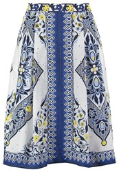 Banana Republic Pleated Skirt Blue