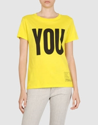 Katharine Hamnett Short Sleeve T Shirts Yellow