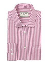 Howick Fairbanks Bengal Stripe Shirt Fuchsia