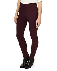 Phase Eight Amina Darted Leggings Aubergine