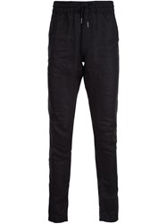 Publish Drawstring Slim Fit Trousers Black