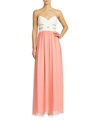 Hailey Logan Colorblock Gown Ivory Sorbet