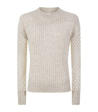 See By Chloe Lace Knit Sweater Female Grey