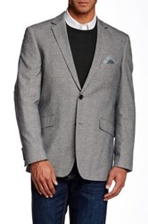 Us Polo Assn. Black And White Plaid Modern Fit Two Button Notch Collar Double Vent Elbow Patch Sport Coat