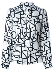 Raoul Printed Shirt White