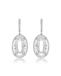 Diana M. Jewels Pave White Diamond And Quartz Drop Earrings Women's