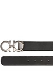 Salvatore Ferragamo 30Mm Reversible Leather Gancio Belt