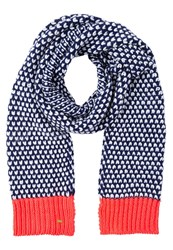 Superdry Scarf Navy Fluro Coral Pop Blue