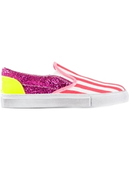Gienchi Glitter And Stripes Sneakers