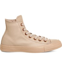 Converse All Star Leather High Top Trainers Frappe Mono