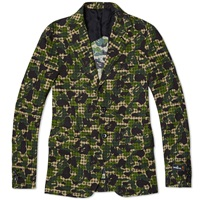 Mr. Bathing Ape Abc Gingham 2 Button American Suit Blazer Green