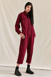 Urban Renewal Vintage Overdyed Coverall Maroon