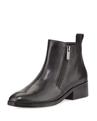 Oak Side Zip Leather Bootie Black Cole Haan