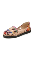 One By Ix Style Woven Leather Huarache Flats Traditional Mayan