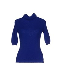 Who S Who Knitwear Turtlenecks Women Bright Blue