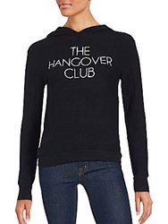 Wildfox Couture Long Sleeve Hooded Pullover Jet Black