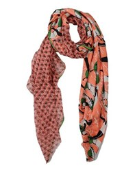 Suoli Accessories Stoles Women Salmon Pink