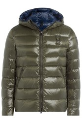 Blauer Down Jacket With Hood Black