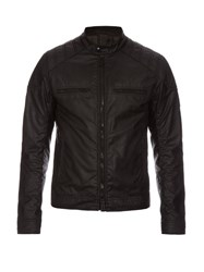 Belstaff Linford Waxed Cotton Bomber Jacket Black